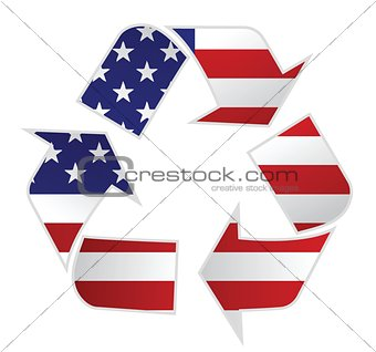 USA recycle illustration