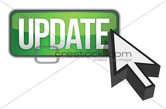 green update button and a cursor