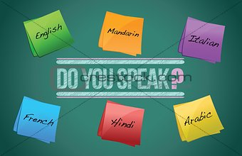 do you speak board illustration design