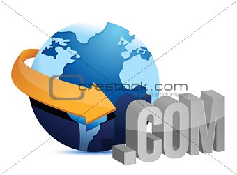 globe arrow and internet connection illustration