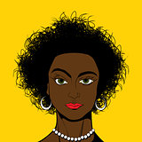 Pop Art style black girl