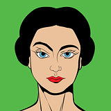 Pop Art style girl