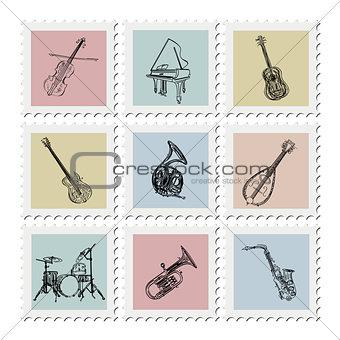 Postage stamp instruments