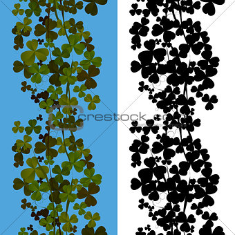 Shamrock seamless design