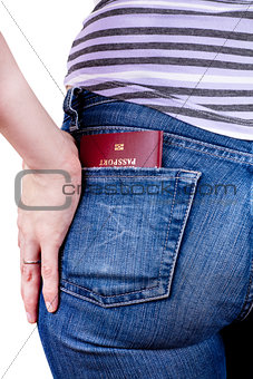Passport in a pocket