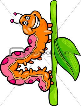 caterpillar insect cartoon illustration