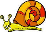 snail mollusk cartoon illustration