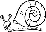snail mollusk cartoon for coloring book