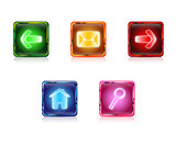 Color web buttons set