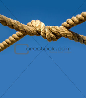 Old  rope against  sky