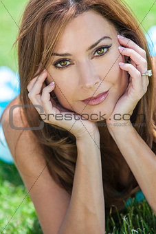Beautiful Woman In Her Thirties