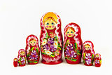 A group of Russian dolls