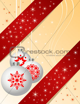 Traditional Christmas ball ornaments