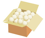 Full box of golf ball