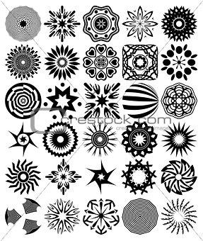 30 vector abstract symbols