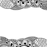 Doodle background (black and white).