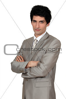 Idly dressed man