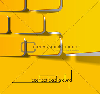 abstract background, realistic sticker