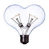 heart shape lamp bulb