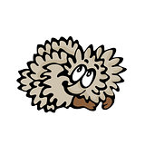 Funny cartoon hedgehog