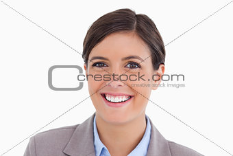 Close up of smiling young entrepreneur