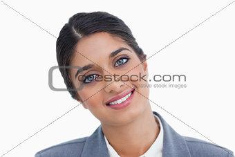Close up of smiling female entrepreneur
