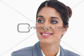 Close up of female entrepreneur looking to the side