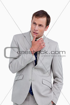 Close up of thoughtful businessman