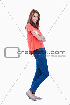 Teenager standing in a relaxed way