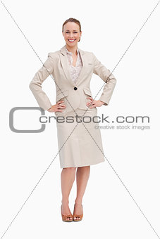 Portrait of a businesswoman with her hands on her hips