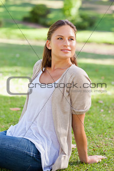 Woman enjoying her time in the park