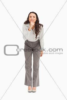 Portrait of an employee keeping a secret