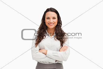 Portrait of an employee with folded arms