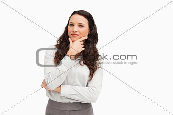 Portrait of a cute businesswoman posing
