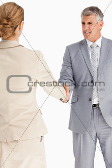 Business people having an agreement