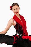 Smiling latin american dancer