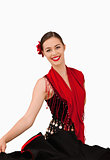 Smiling female dancer