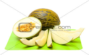 Green Melon with Slices