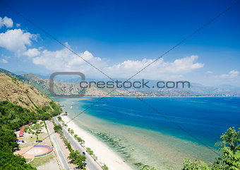 cristo rei beach near dili east timor