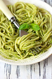 Pesto pasta.