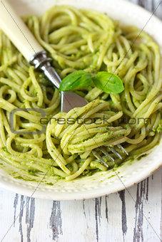Pesto pasta.