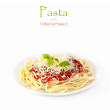 Pasta with tomato sauce.