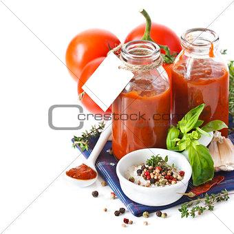 Tomato sauce.