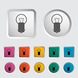Bulb single icon. Vector illustration.