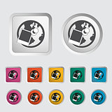Geotegirovanie single icon. Vector illustration.