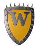 shield with letter w