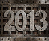 2013 new year metal illustration