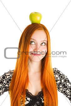 apple on the head