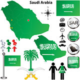 Saudi Arabia map