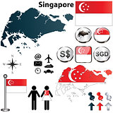 Singapore map